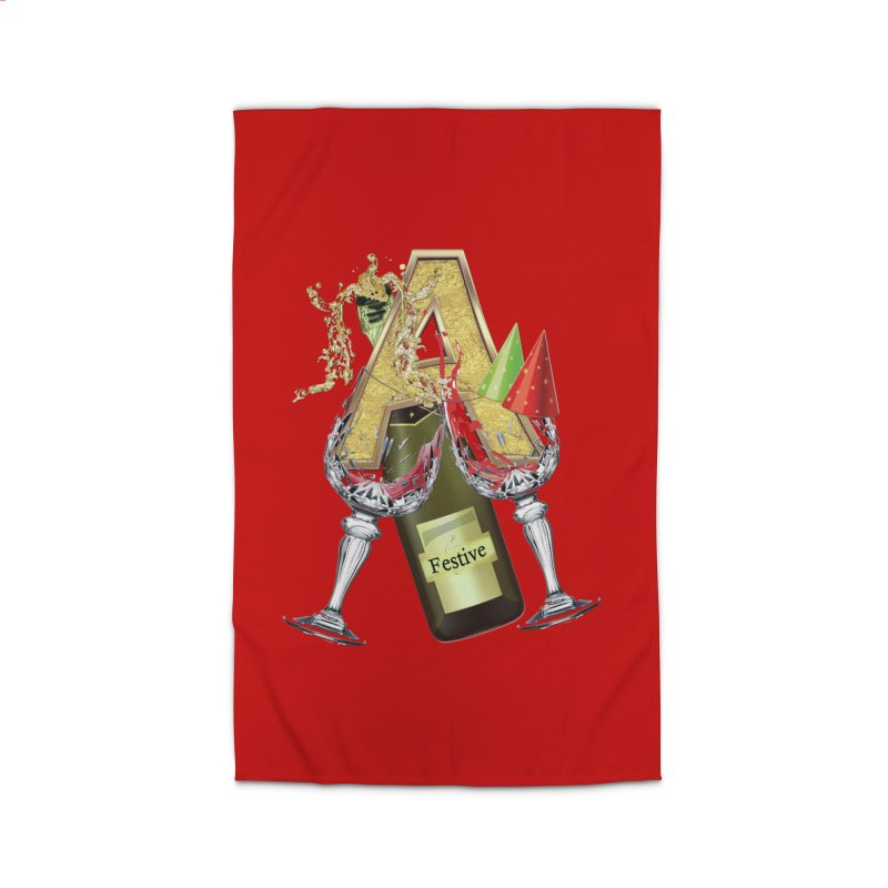 Festive-party letter A Home Rug by NadineMay Artist Shop
