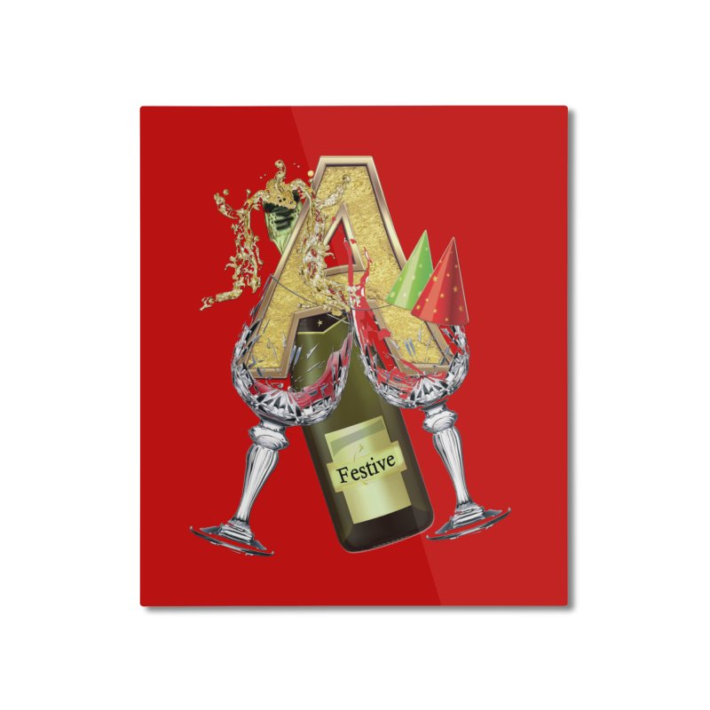 Festive-party letter A Home Mounted Aluminum Print by NadineMay Artist Shop