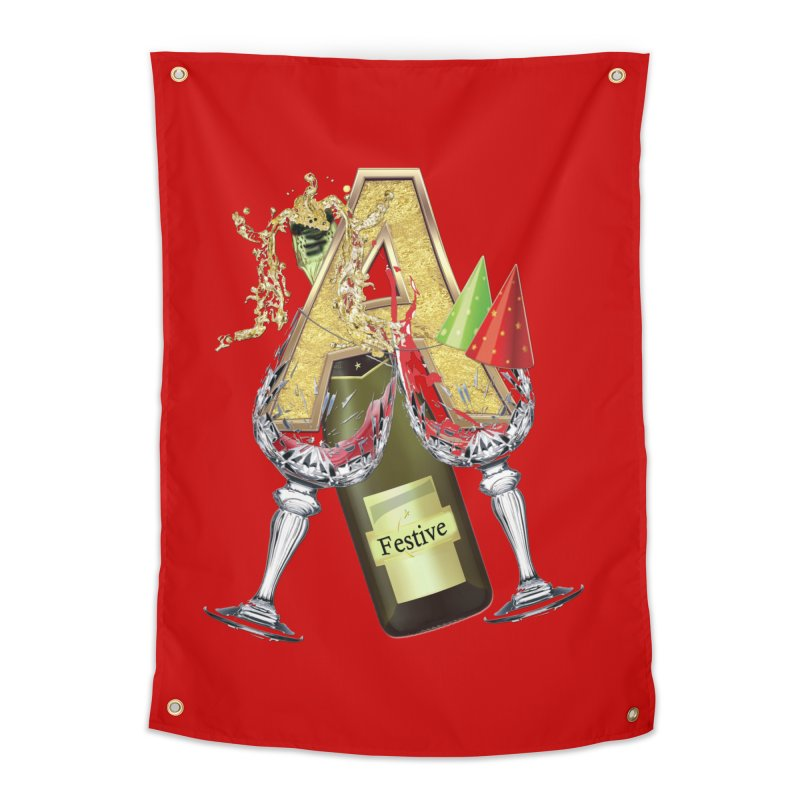 Festive-party letter A Home Tapestry by NadineMay Artist Shop