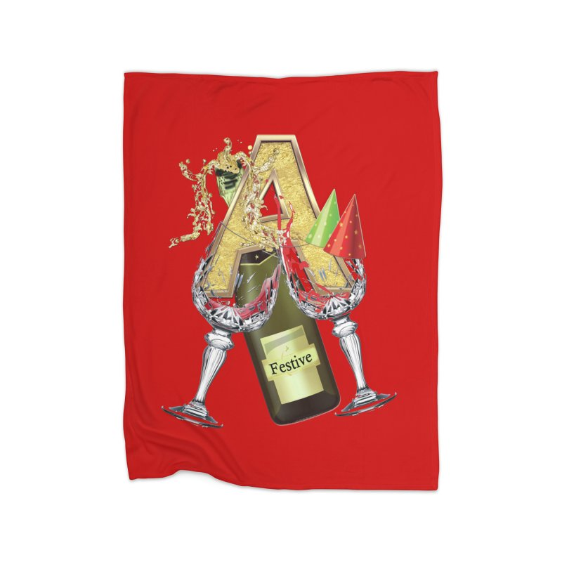 Festive-party letter A Home Blanket by NadineMay Artist Shop