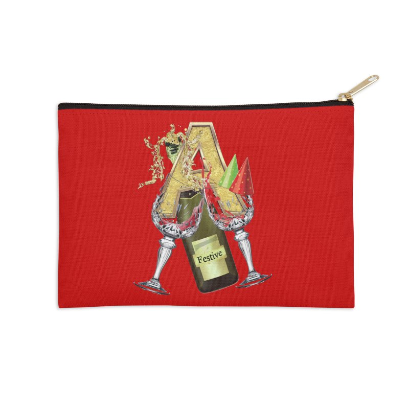 Festive-party letter A Accessories Zip Pouch by NadineMay Artist Shop