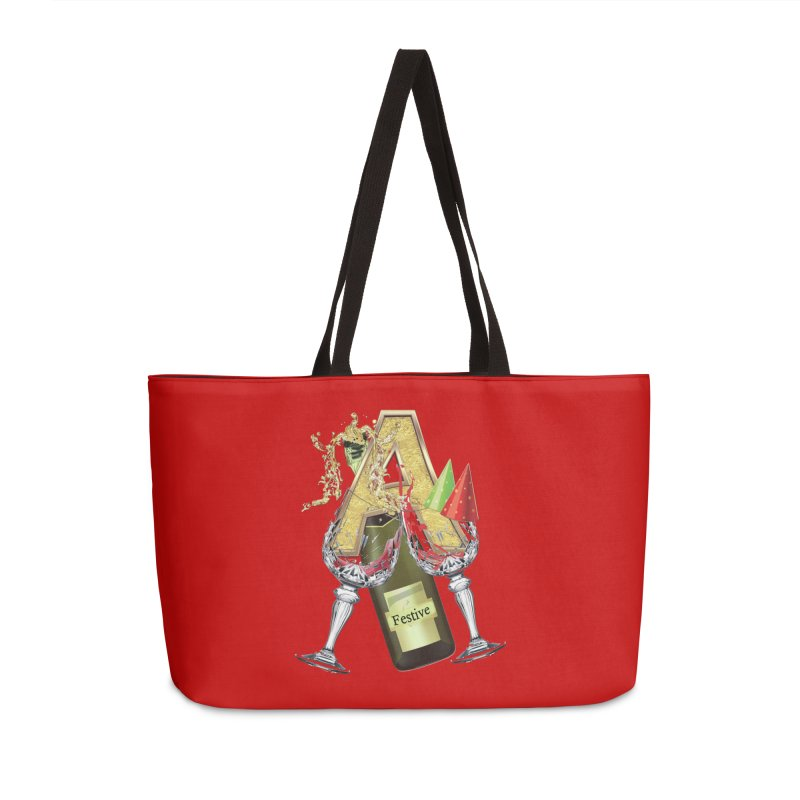 Festive-party letter A Accessories Weekender Bag Bag by NadineMay Artist Shop