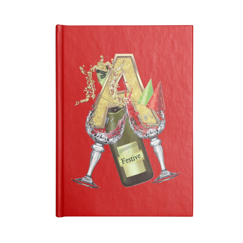 Festive-party letter A Accessories Notebook by NadineMay Artist Shop