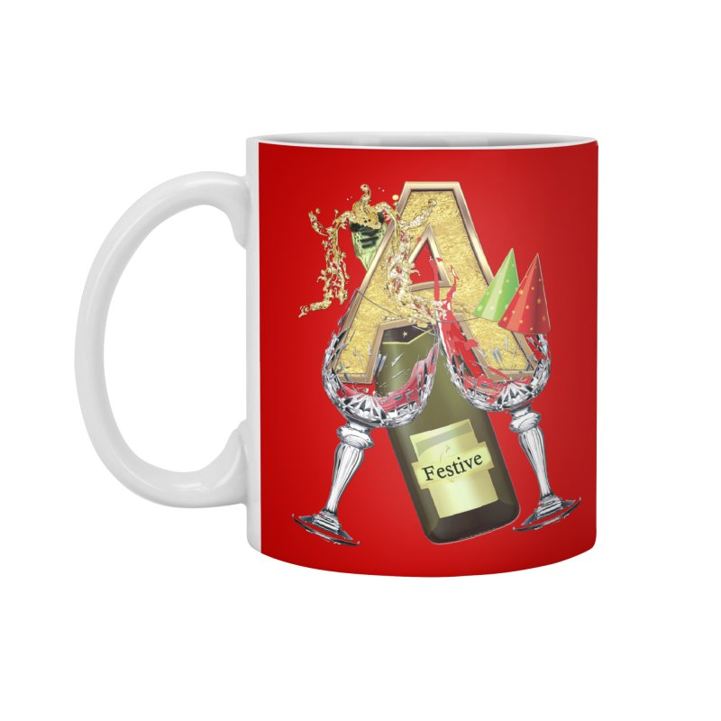 Festive-party letter A Accessories Mug by NadineMay Artist Shop