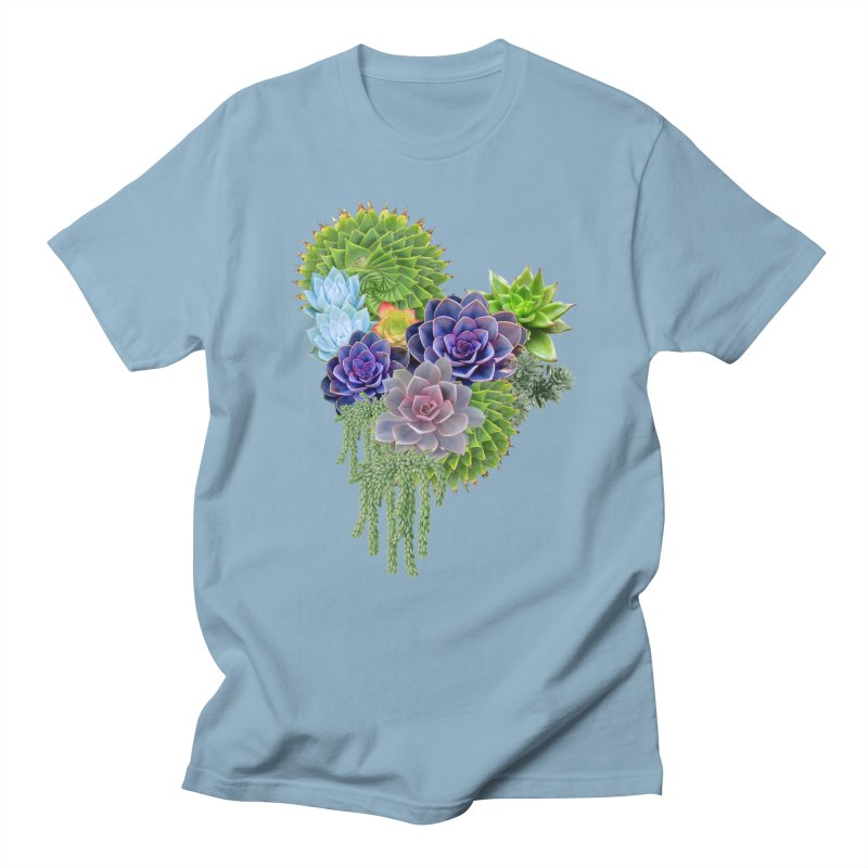 Succulent Story Men's T-shirt by NadineMay Artist Shop