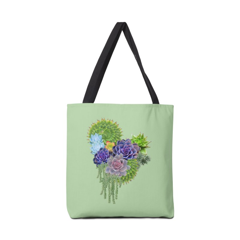Succulent Story Accessories Bag by NadineMay Artist Shop