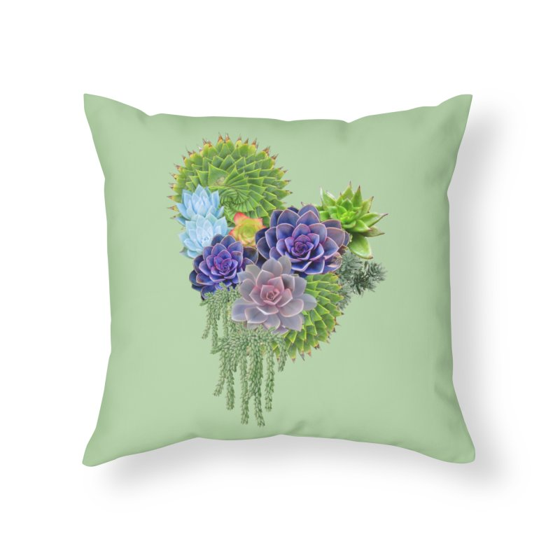 Succulent Story Home Throw Pillow by NadineMay Artist Shop