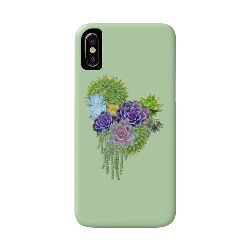 Succulent Story Accessories Phone Case by NadineMay Artist Shop