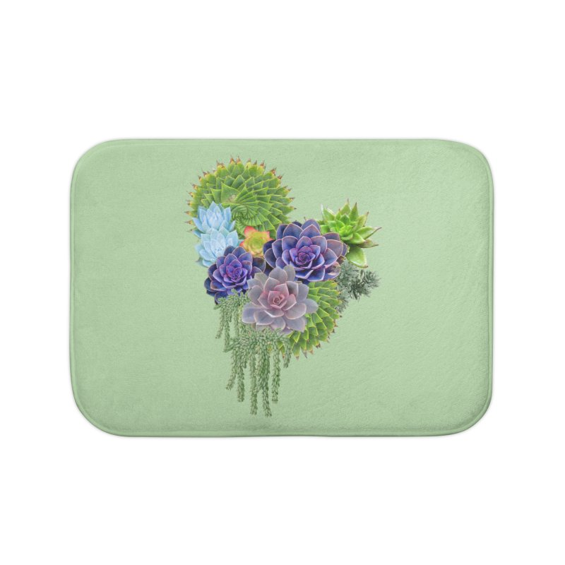 Succulent Story Home Bath Mat by NadineMay Artist Shop