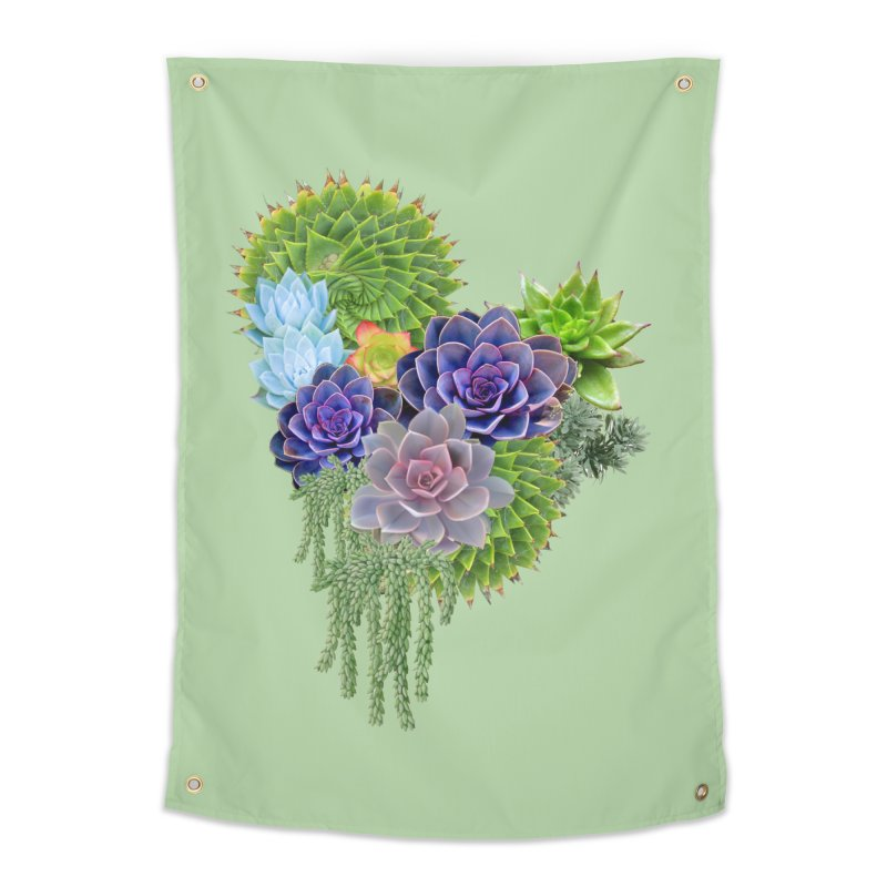 Succulent Story Home Tapestry by NadineMay Artist Shop
