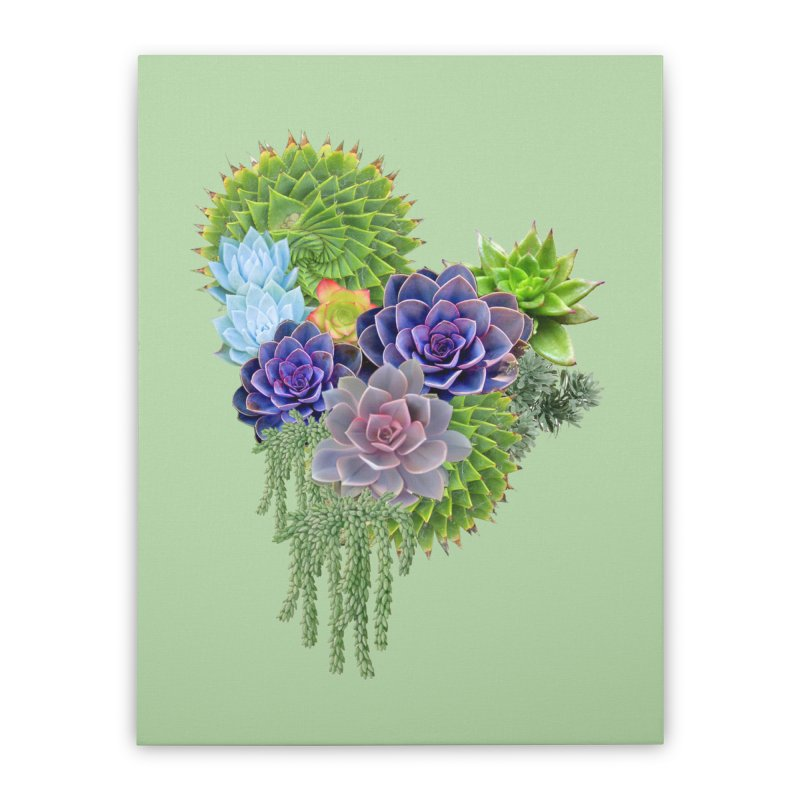 Succulent Story Home Stretched Canvas by NadineMay Artist Shop