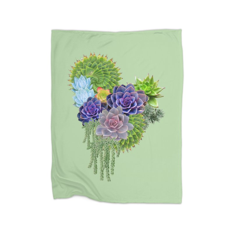 Succulent Story Home Blanket by NadineMay Artist Shop