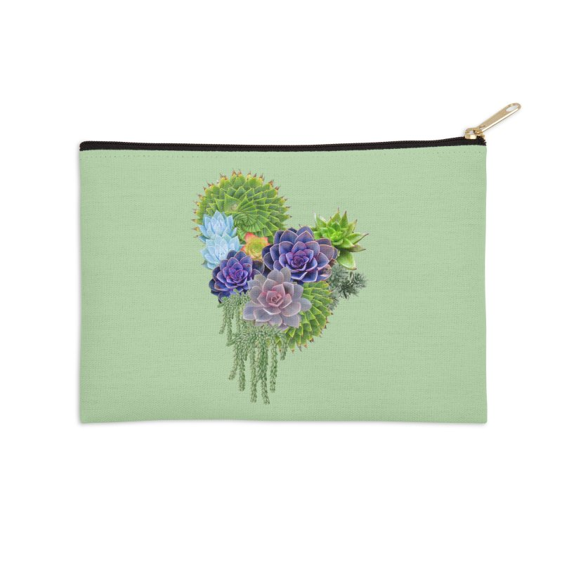Succulent Story Accessories Zip Pouch by NadineMay Artist Shop