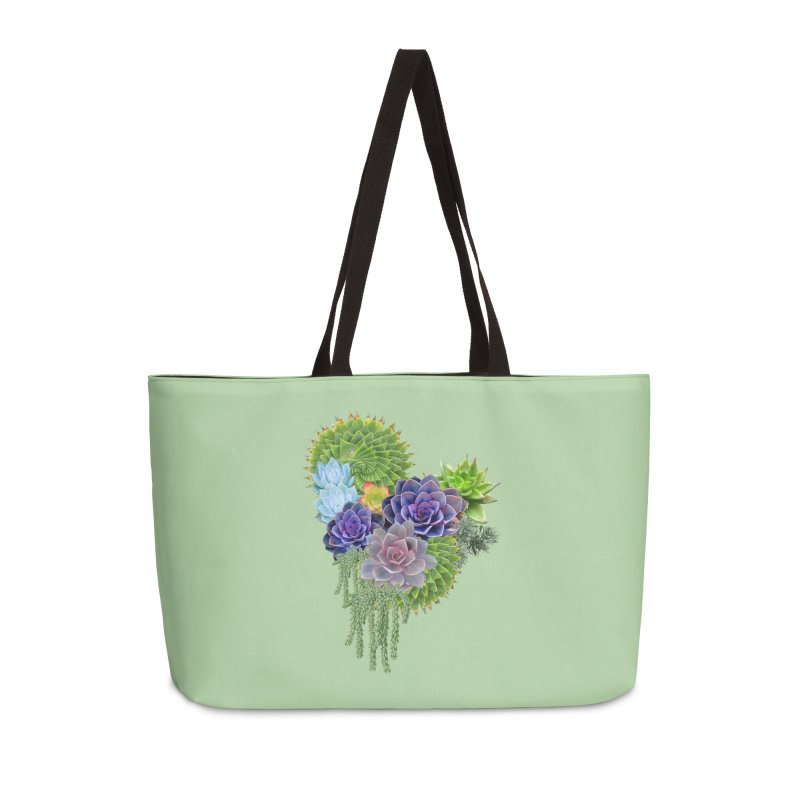 Succulent Story Accessories Weekender Bag Bag by NadineMay Artist Shop