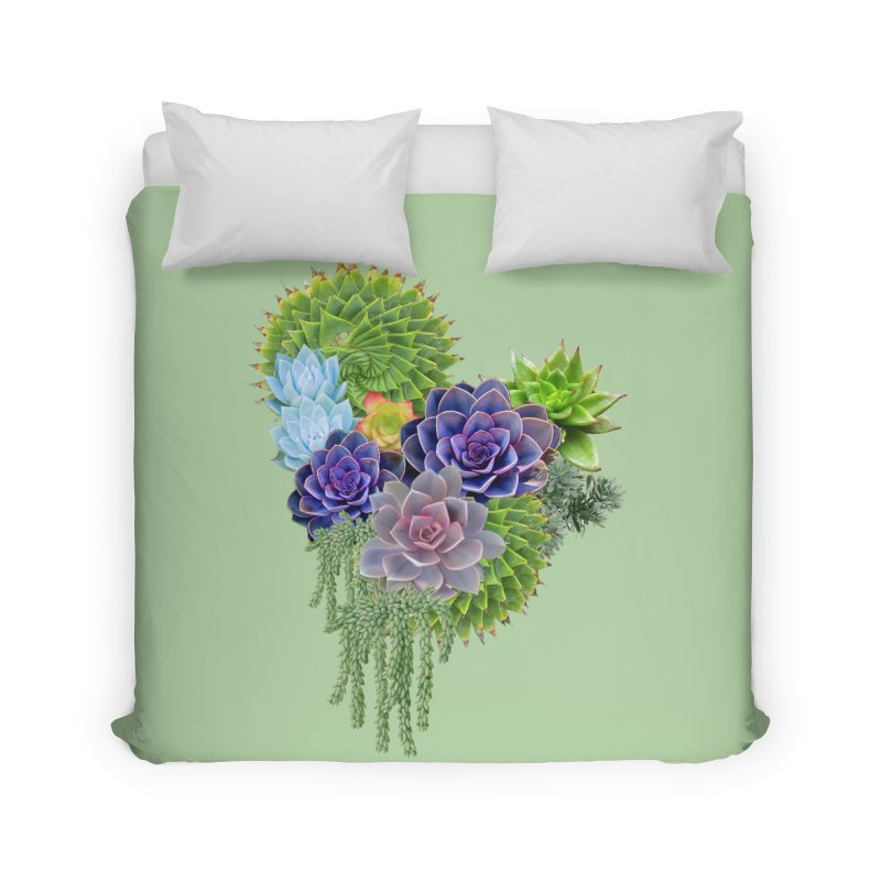 Succulent Story Home Duvet by NadineMay Artist Shop