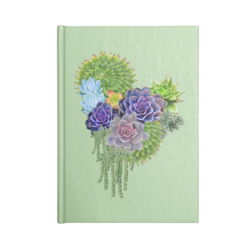 Succulent Story Accessories Notebook by NadineMay Artist Shop