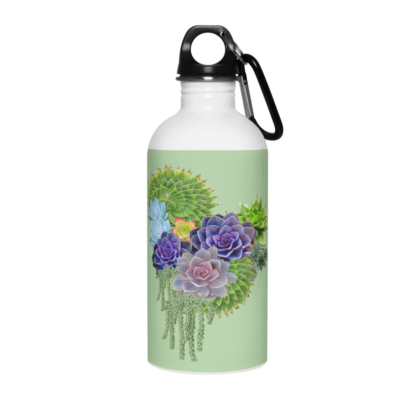 Succulent Story Accessories Water Bottle by NadineMay Artist Shop