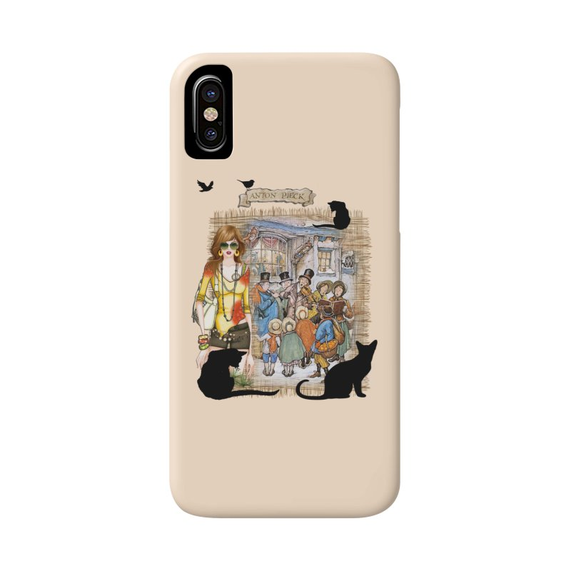 Carol singers in old Amsterdam Accessories Phone Case by NadineMay Artist Shop