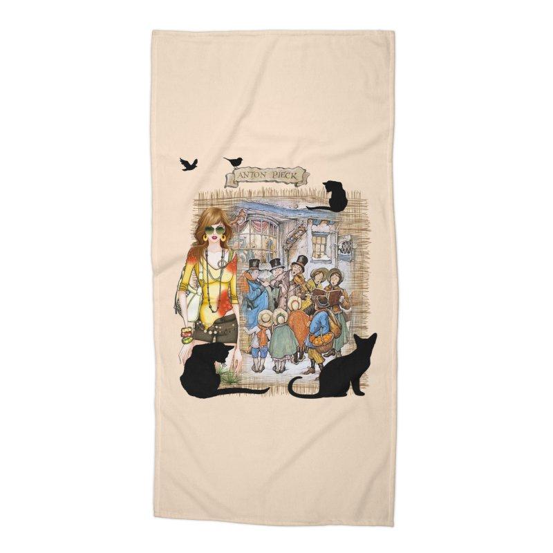 Carol singers in old Amsterdam Accessories Beach Towel by NadineMay Artist Shop