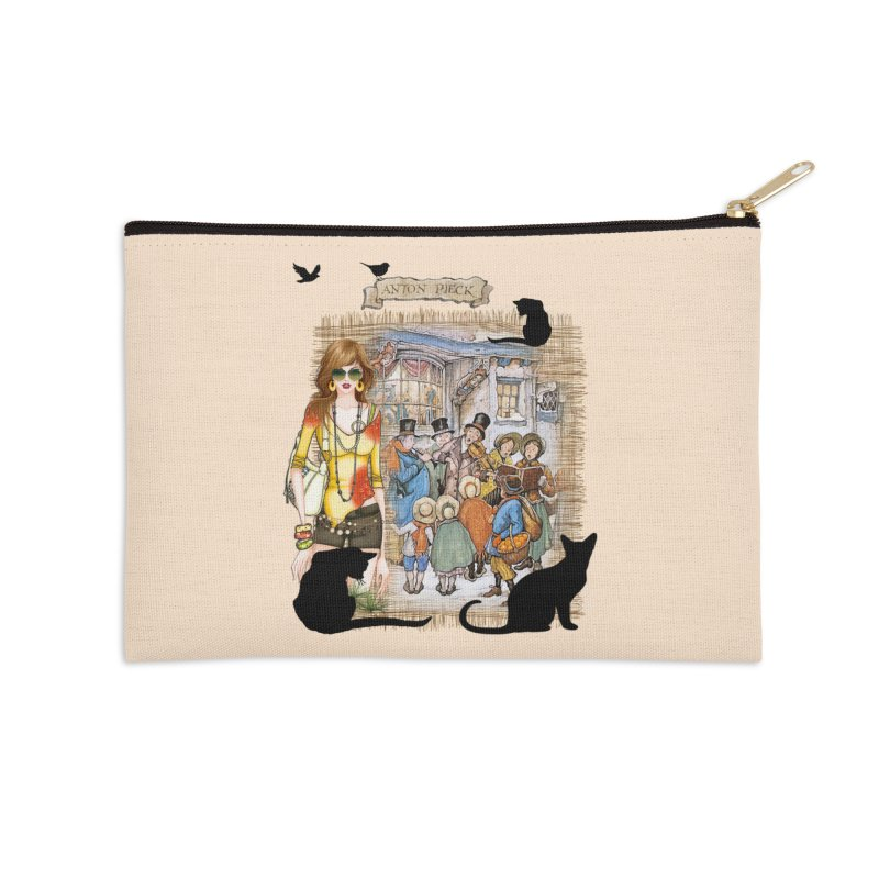 Carol singers in old Amsterdam Accessories Zip Pouch by NadineMay Artist Shop