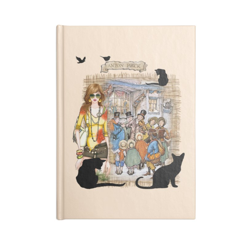 Carol singers in old Amsterdam Accessories Notebook by NadineMay Artist Shop