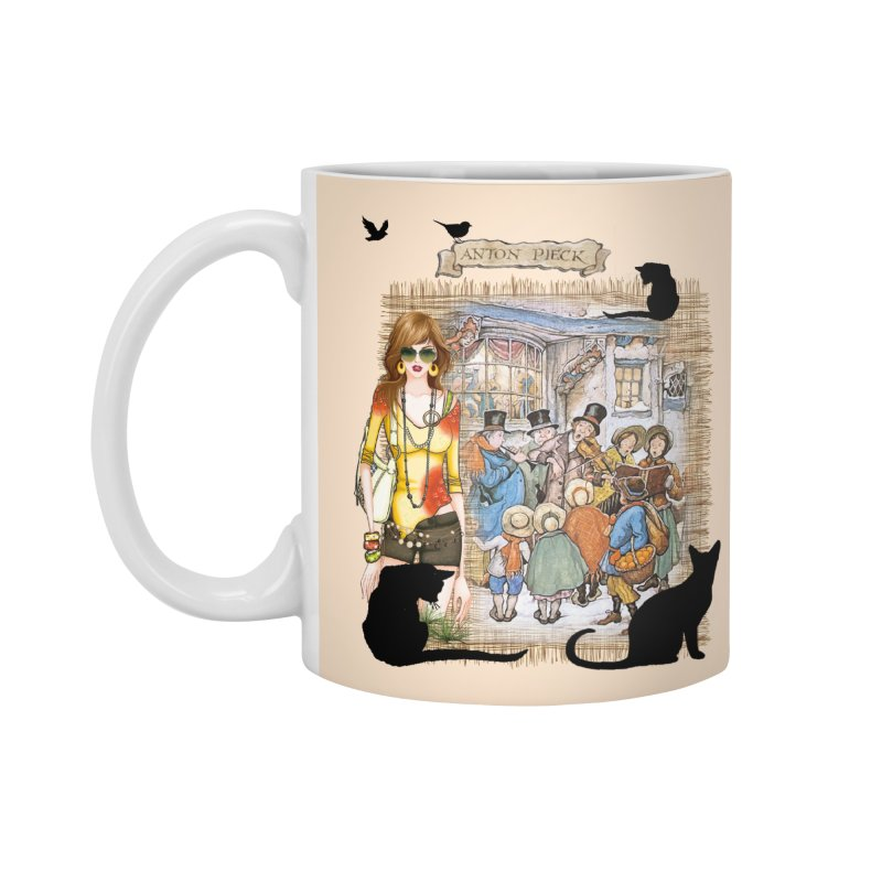Carol singers in old Amsterdam Accessories Mug by NadineMay Artist Shop