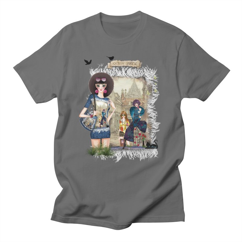 Fashion girls,Black cats and a Dutch painting Men's T-shirt by NadineMay Artist Shop