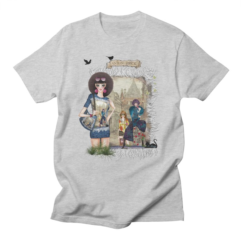 Fashion girls,Black cats and a Dutch painting Men's Regular T-Shirt by NadineMay Artist Shop