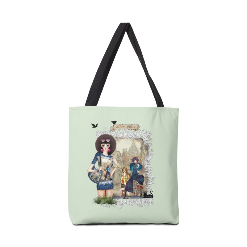 Fashion girls,Black cats and a Dutch painting Accessories Bag by NadineMay Artist Shop