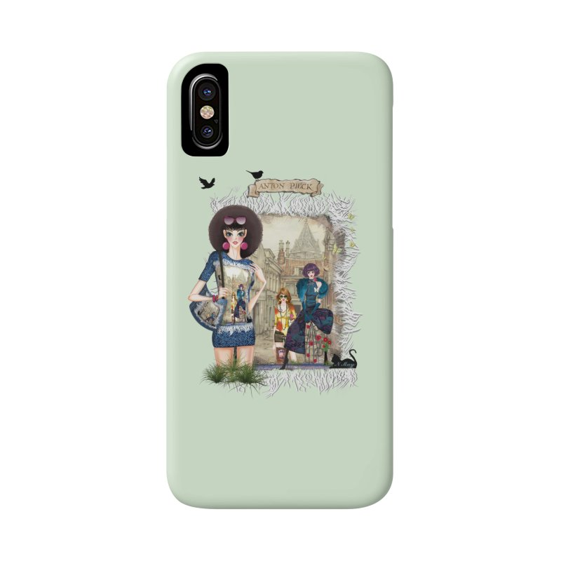 Fashion girls,Black cats and a Dutch painting Accessories Phone Case by NadineMay Artist Shop