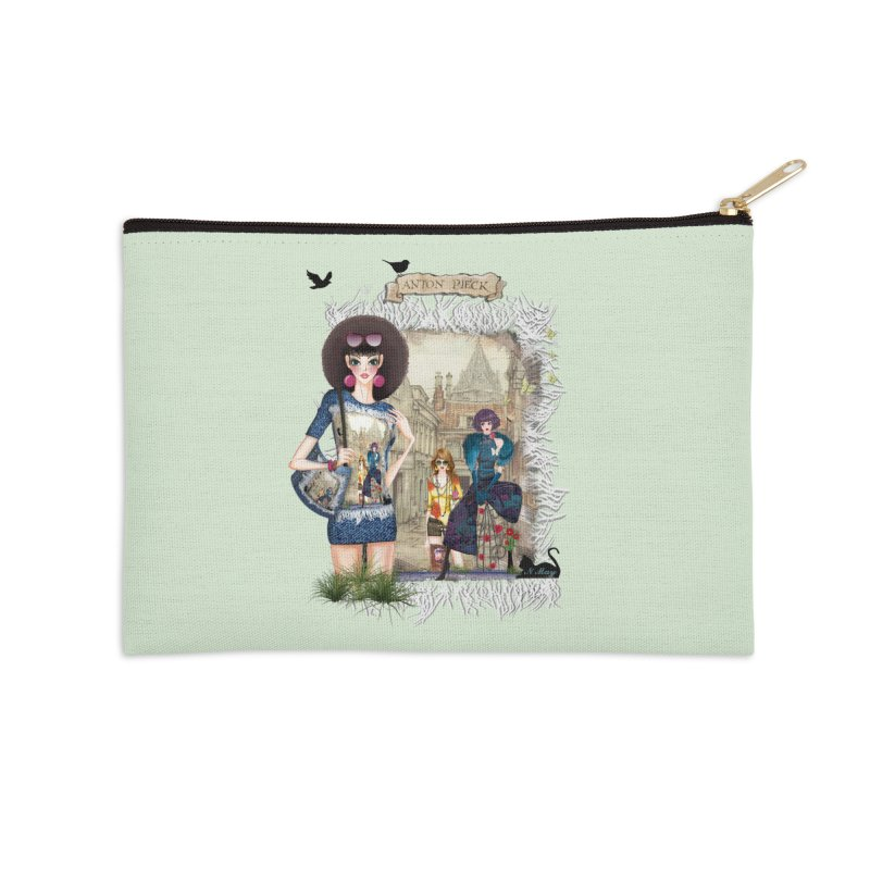 Fashion girls,Black cats and a Dutch painting Accessories Zip Pouch by NadineMay Artist Shop