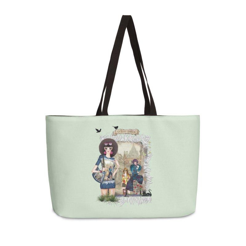Fashion girls,Black cats and a Dutch painting Accessories Weekender Bag Bag by NadineMay Artist Shop