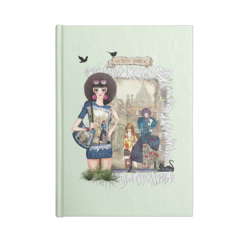 Fashion girls,Black cats and a Dutch painting Accessories Notebook by NadineMay Artist Shop