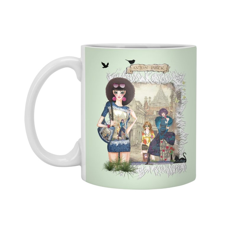 Fashion girls,Black cats and a Dutch painting Accessories Mug by NadineMay Artist Shop
