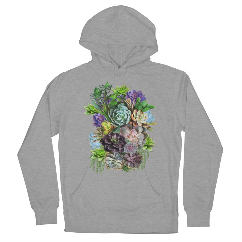 Succulent arraingement Women's Pullover Hoody by NadineMay Artist Shop