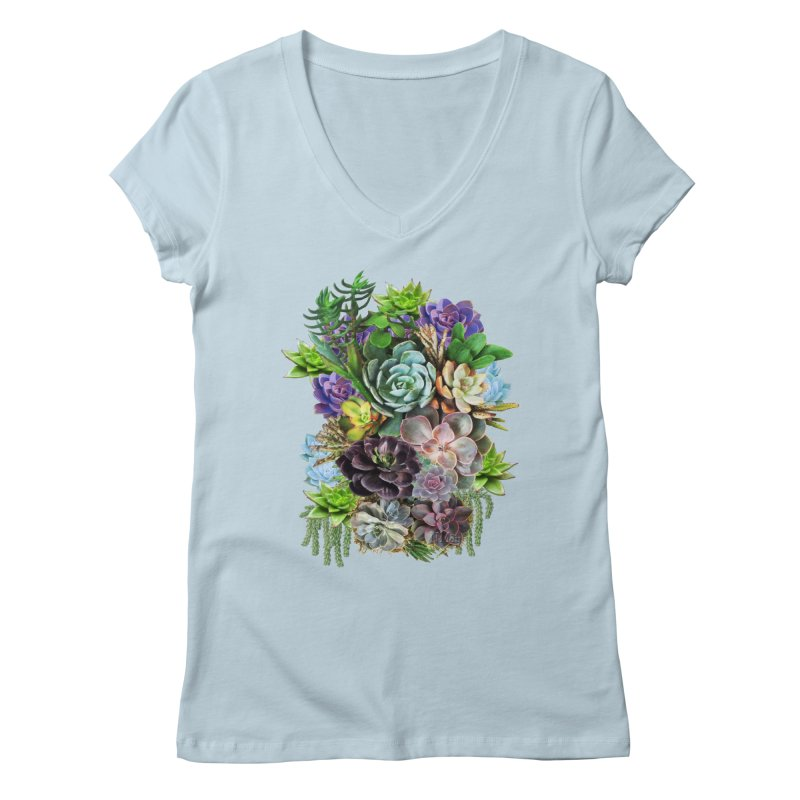 Succulent arraingement Women's V-Neck by justkidding's Artist Shop
