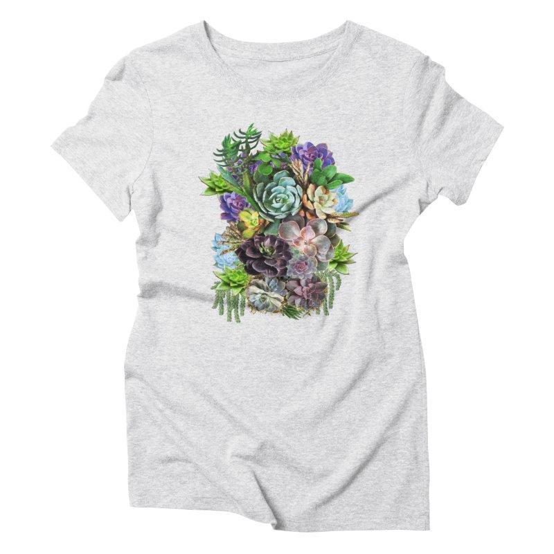 Succulent arraingement Women's Triblend T-Shirt by NadineMay Artist Shop