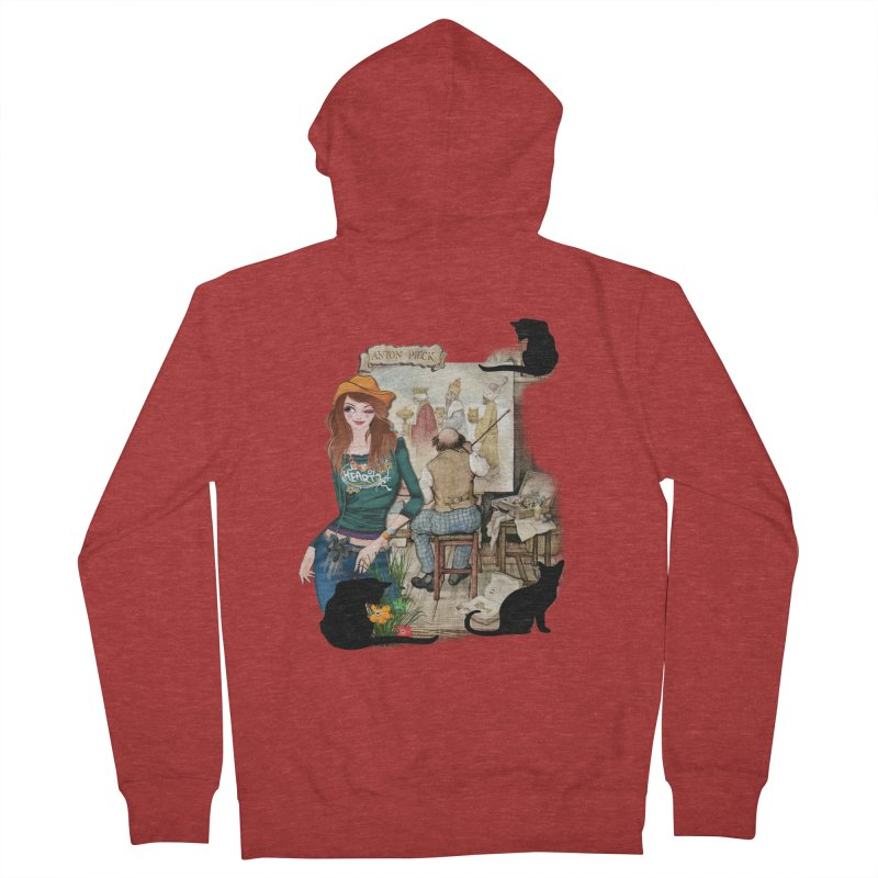 Artist Studio Women's Zip-Up Hoody by justkidding's Artist Shop