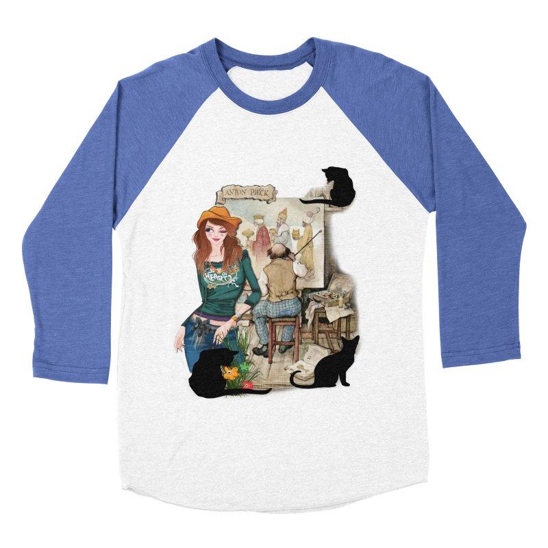 Artist Studio Women's Baseball Triblend T-Shirt by justkidding's Artist Shop