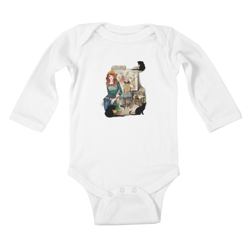 Artist Studio Kids Baby Longsleeve Bodysuit by justkidding's Artist Shop