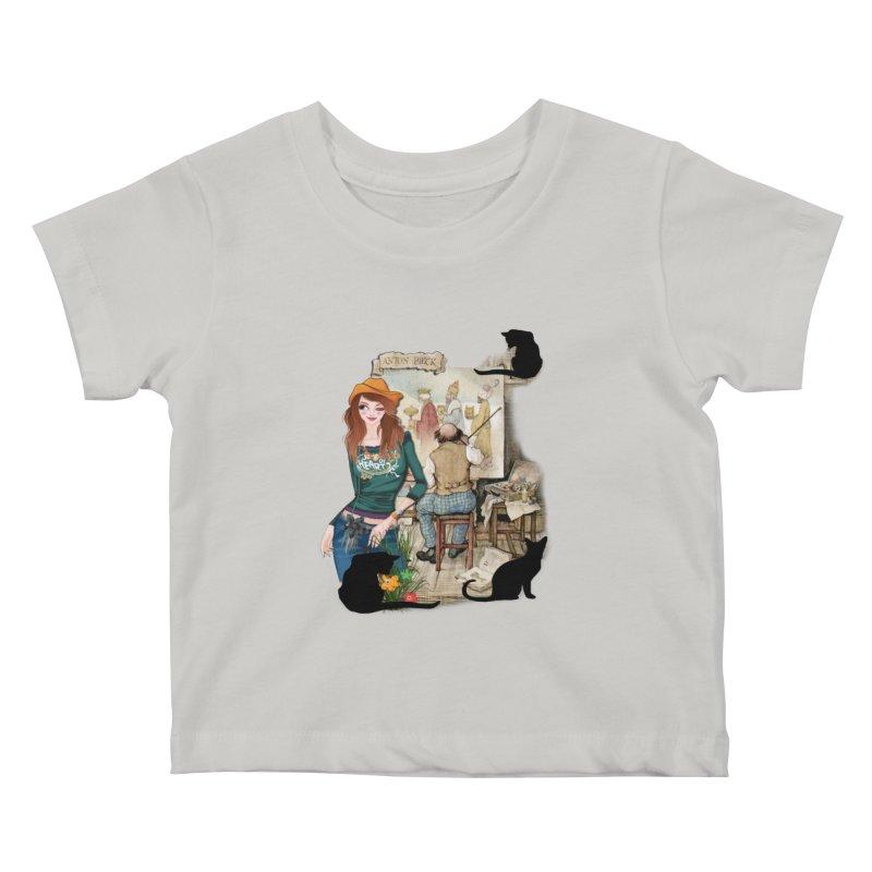 Artist Studio Kids Baby T-Shirt by justkidding's Artist Shop