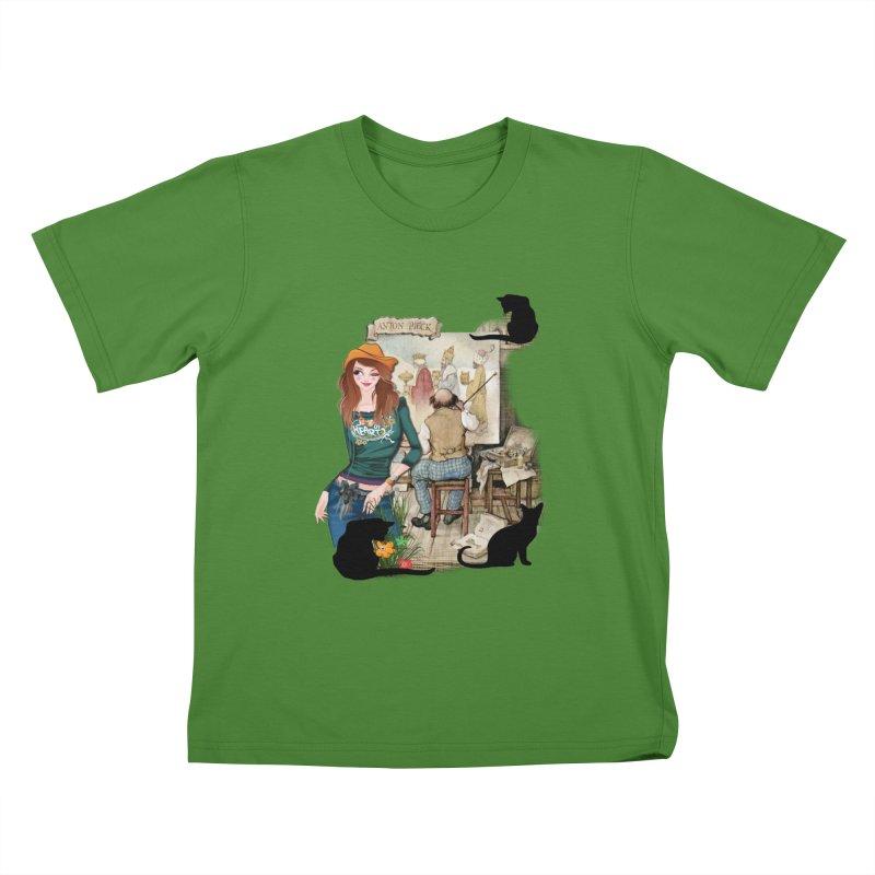 Artist Studio Kids T-shirt by justkidding's Artist Shop