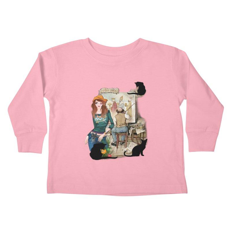 Artist Studio Kids Toddler Longsleeve T-Shirt by justkidding's Artist Shop