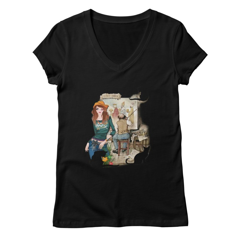 Artist Studio Women's V-Neck by justkidding's Artist Shop