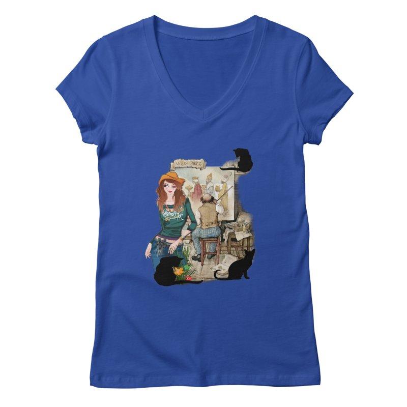 Artist Studio Women's V-Neck by justkidding's Artist Shop