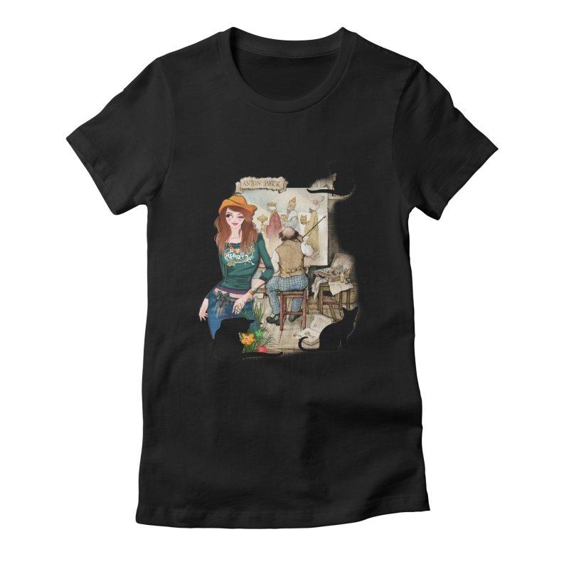 Artist Studio Women's Fitted T-Shirt by justkidding's Artist Shop