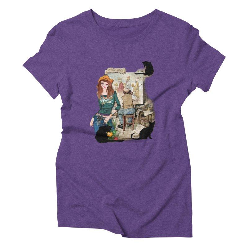 Artist Studio Women's Triblend T-shirt by justkidding's Artist Shop