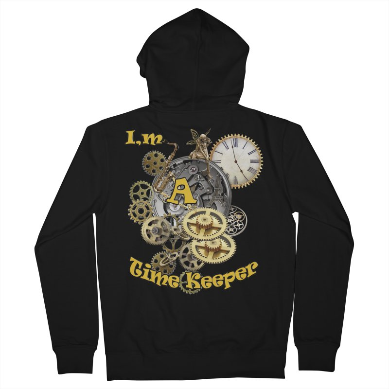 I'm a Time keeper Men's Zip-Up Hoody by justkidding's Artist Shop