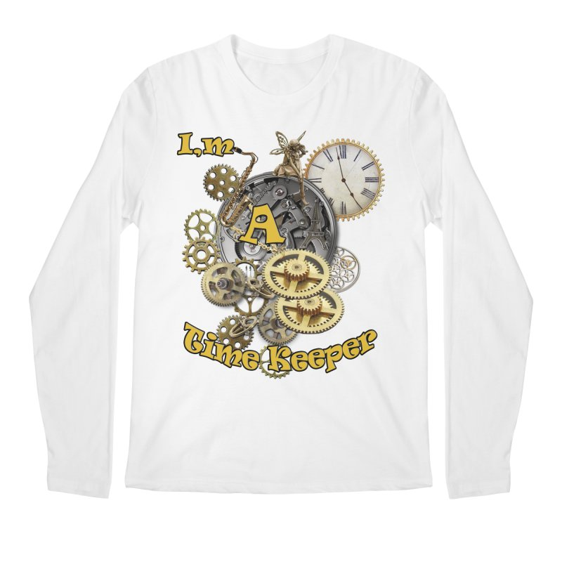 I'm a Time keeper Men's Regular Longsleeve T-Shirt by NadineMay Artist Shop