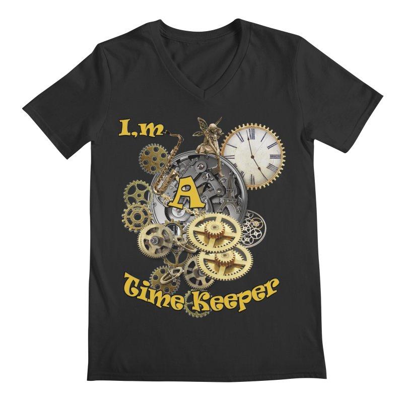 I'm a Time keeper Men's V-Neck by justkidding's Artist Shop